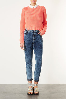 Topshop Knitted Rib Crop Sweat