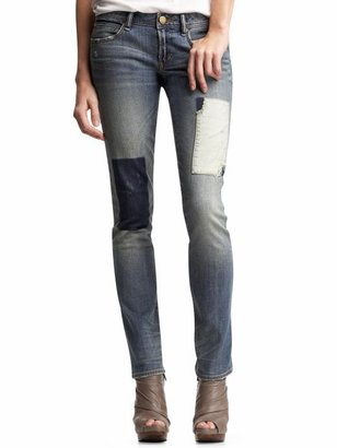 Gap Real straight patch jeans
