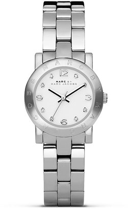 Marc by Marc Jacobs Mini Amy Silver Watch, 26mm