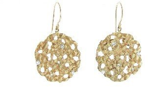 Jamie Joseph Small Hydrangea Earrings with Diamonds - Yellow Gold