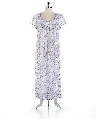 Eileen West Cotton Floral Print Nightgown