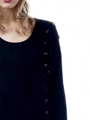Torn By Ronny Kobo Hilary Grommet Sweater