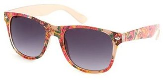Charlotte Russe Floral Print Plastic Shades
