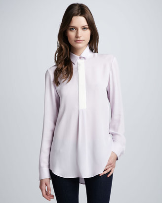 Theory Georgette Button-Down Blouse