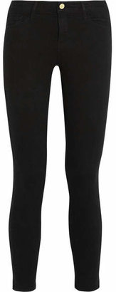 Frame Le Color Cropped Mid-rise Skinny Jeans - Black