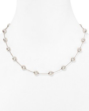 Majorica Stationed Simulated Pearl Necklace, 18