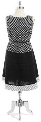 Anne Klein Patterned Sleeveless Dress