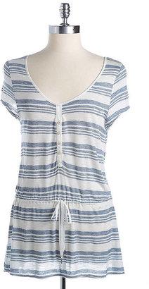 Calvin Klein Jeans Striped Tie Waist Top