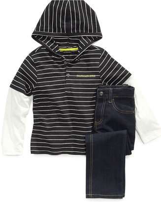 Calvin Klein Jeans Kids Set, Little Boys Stripe Hoodie and Denim Set