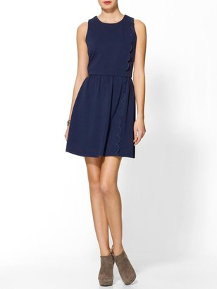 Pim + Larkin Nantucket Scalloped Dress