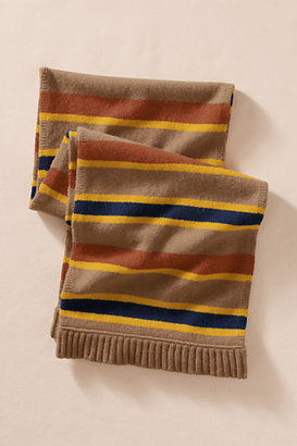 Lands' End Canvas Lambswool Striped Scarf