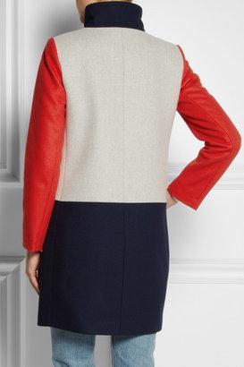 J.Crew Color-block wool-blend coat