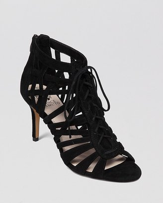 Vince Camuto Open Toe Sandals - Nonzia Lace Up High Heel