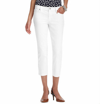 LOFT Modern Cropped Jeans in White