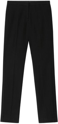 Burberry Silk Blend Side Stripe Wool Tailored Trousers