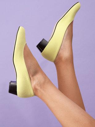 American Apparel Bright Citron Leslie Pump Canvas Shoe