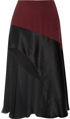 Jonathan Saunders Georgia paneled crepe and silk skirt