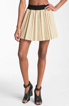 Parker Pleated Leather Miniskirt