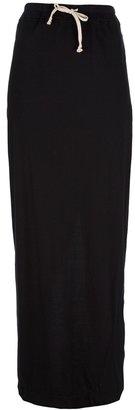Rick Owens drawstring maxi skirt