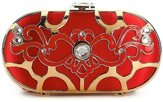 Townsend Lulu Gold Scroll Minaudiere Clutch