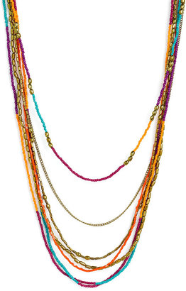 Stephan & Co Layered Seed Bead Necklace