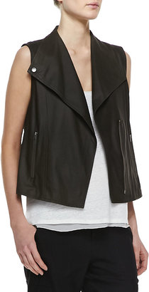 Vince Lightweight Leather Zip Vest