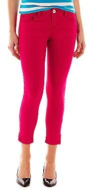 JCPenney a.n.a® Ankle-Zip Skinny Jeans - Petite