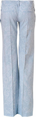 Balmain Vintage Blue Wide Leg Pants