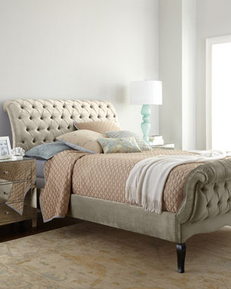 Haute House Champagne Tufted California King Bed