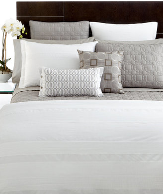 Hotel Collection CLOSEOUT! Woven Pleats King Duvet Cover