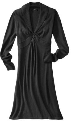 Mossimo Womens Plus-Size Long-Sleeve Twist Sweater Dress - Assorted Colors