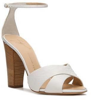 Giuseppe Zanotti Leather Peep Toe Sandal
