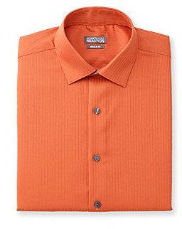 Kenneth Cole Reaction Men's Harvest Orange Long Sleeve Dress Shirt