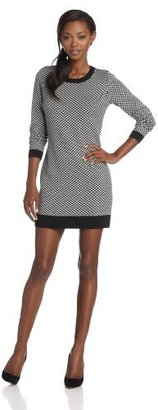Joie Women's Geralda Tweed Pattern Jacquard Sweater Dress