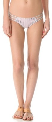 Tyler Rose Swimwear Leather & Lace Bikini Bottoms
