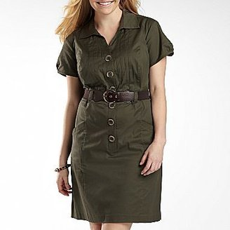 JCPenney Shirt Dress with Belt - Plus