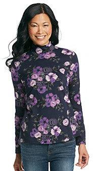 Studio Works® Mockneck Floral Print Top