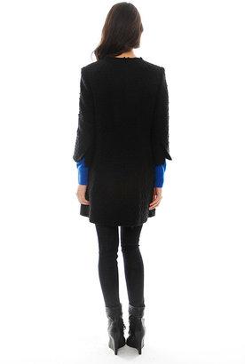 Smythe Boucle Mini Coat in Black