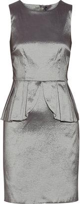 Walter W118 by Baker Courtney metallic brocade peplum dress