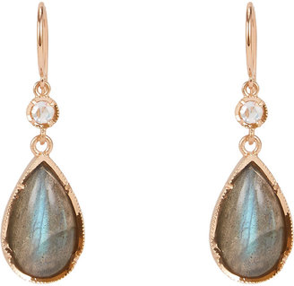 Irene Neuwirth Diamond, Labradorite & Rose Gold Double-Drop Earrings