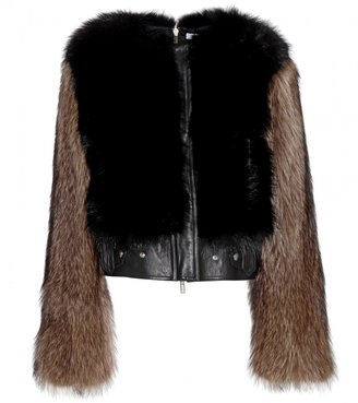 Givenchy Leather and fur jacket
