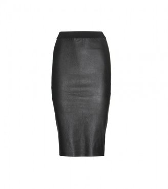 By Malene Birger DOLINAS LEATHER AND JERSEY PENCIL SKIRT