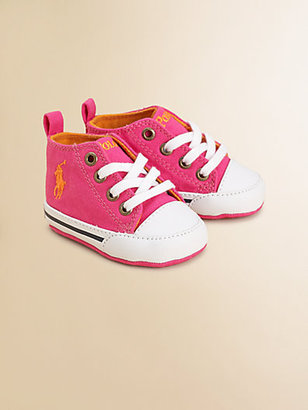 Ralph Lauren Infant's Canvas Lace-Up High-Top Sneakers