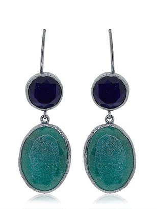 Emerald And Sapphire Earrings