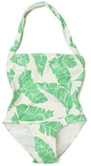 Anthropologie Coconut Palm Maillot