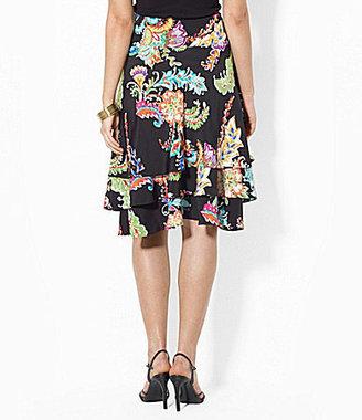 Lauren Ralph Lauren Ruffled Paisley Skirt