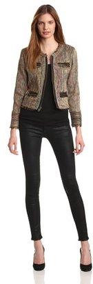 Chaser Women's Destroyed Tweed Jacket
