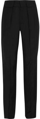 Maison Martin Margiela Wool-blend twill tapered pants