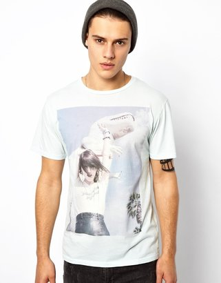 Blood Is The New Black T-Shirt with Dino Print