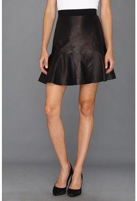 Rebecca Taylor Leather Skirt (Black) - Apparel